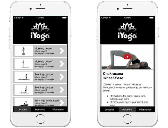 yoga poses app for iphone