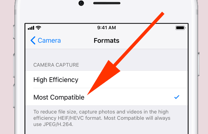 Shoot JPEG in iOS 11
