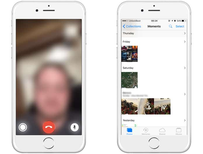 take live photos in facetime