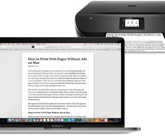 print webpage without ads on mac