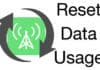 reset cellular data usage