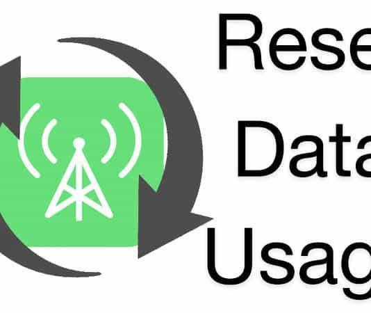 reset cellular data usage