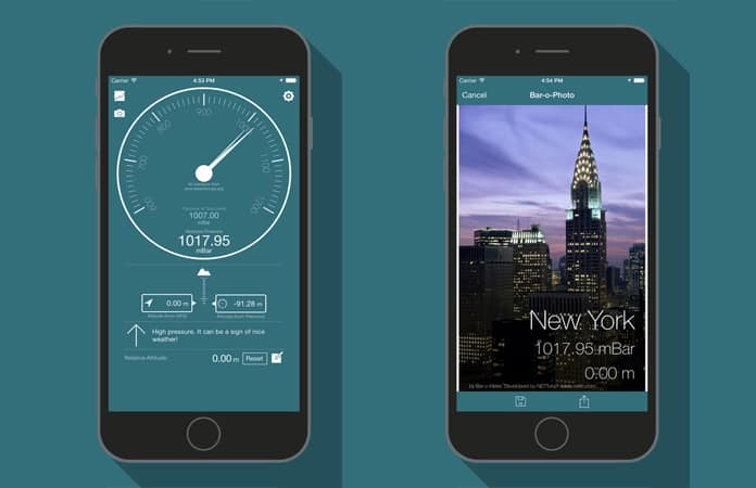 best iphone barometer app