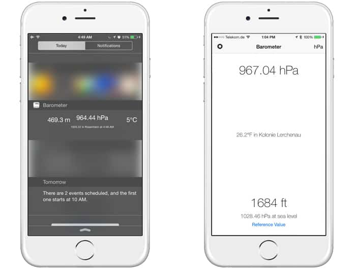 iphone barometer apps