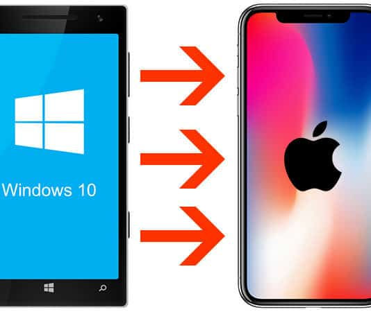 switch from windows phone to iphone