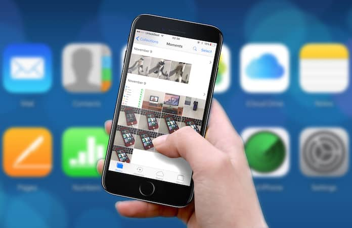 download icloud photos to iphone