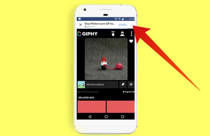 save gif from facebook app
