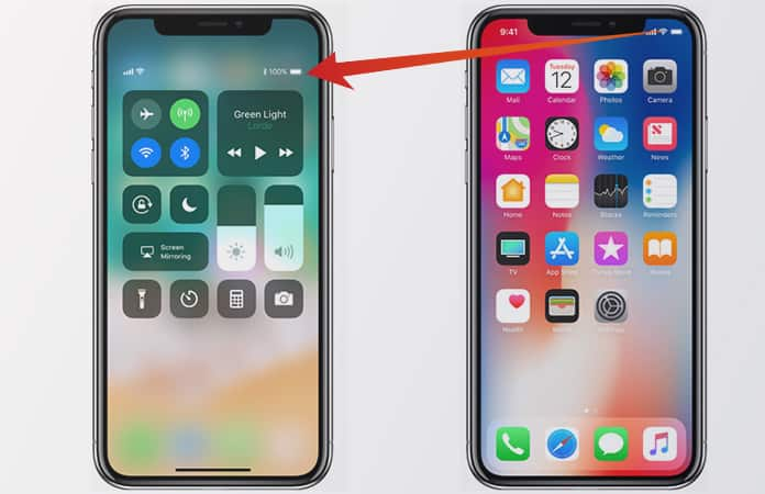 how to see battery percentage on iphone 5 check iphone x battery percentage in home screen 8708