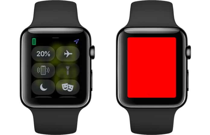 how to use flashlight on apple watch