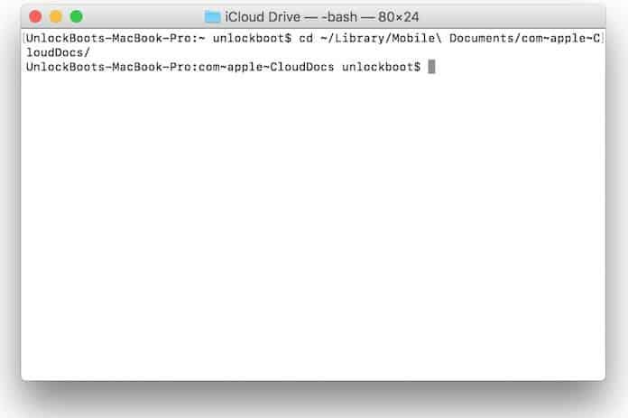 icloud folder location