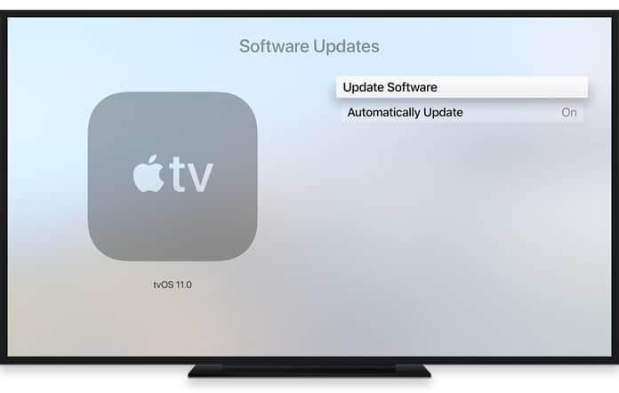 disable software update on apple tv