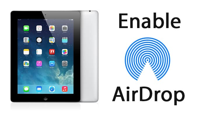 enable airdrop on ipad 2