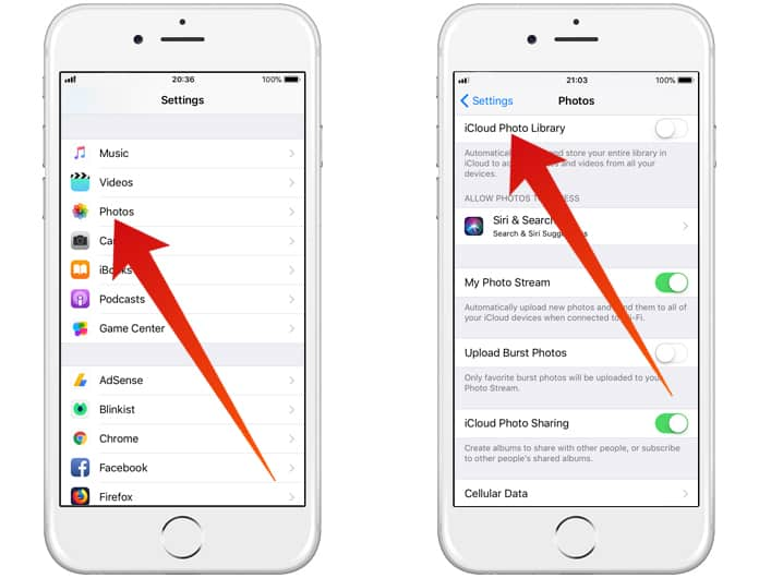 how to transfer pictures from iphone to icloud