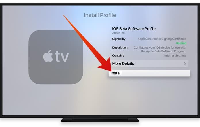 disable updates on apple tv