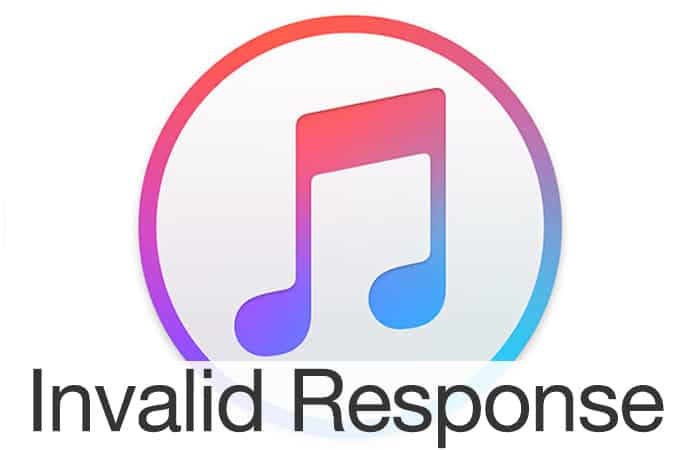 invalid response from iphone