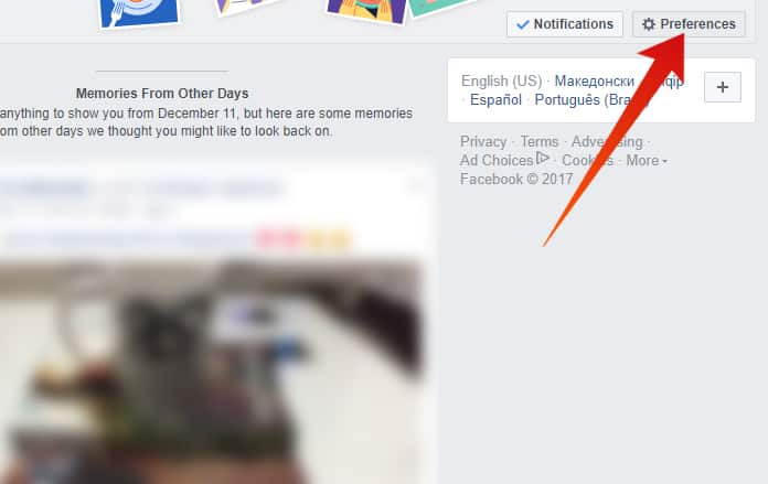 turn off facebook memories notifications