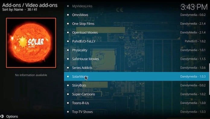 install solar movie for kodi