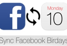 sync facebook birthdays with iPhone