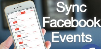 sync facebook events ios 11