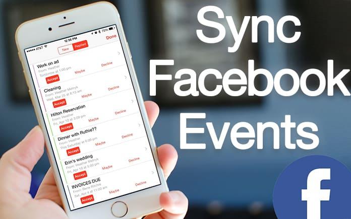 sync facebook events ios 11