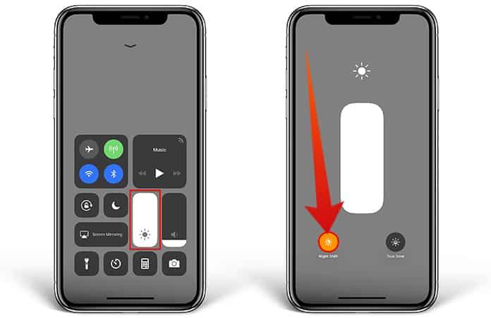 iphone screen looks yellow