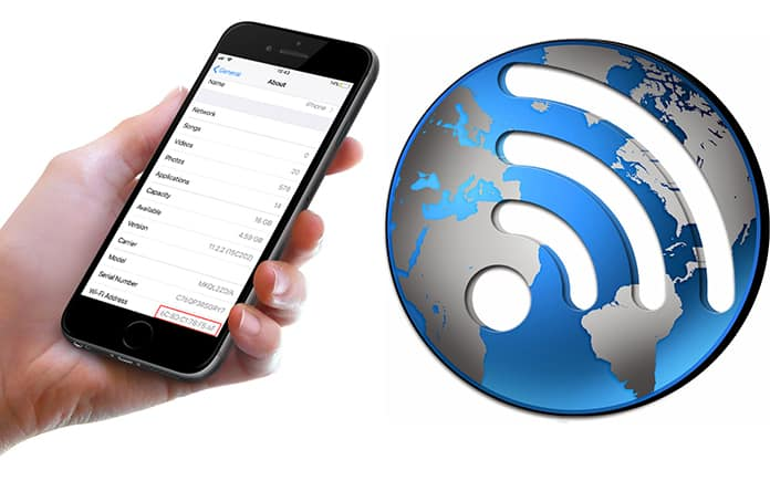 find wifi mac on iphone