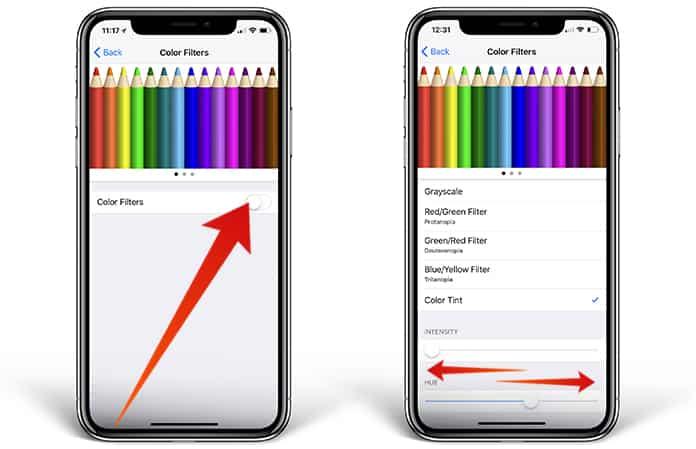 iphone x yellow screen fix