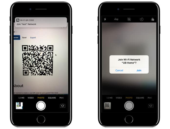 wifi qr code iphone