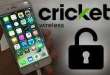 unlock cricket phone