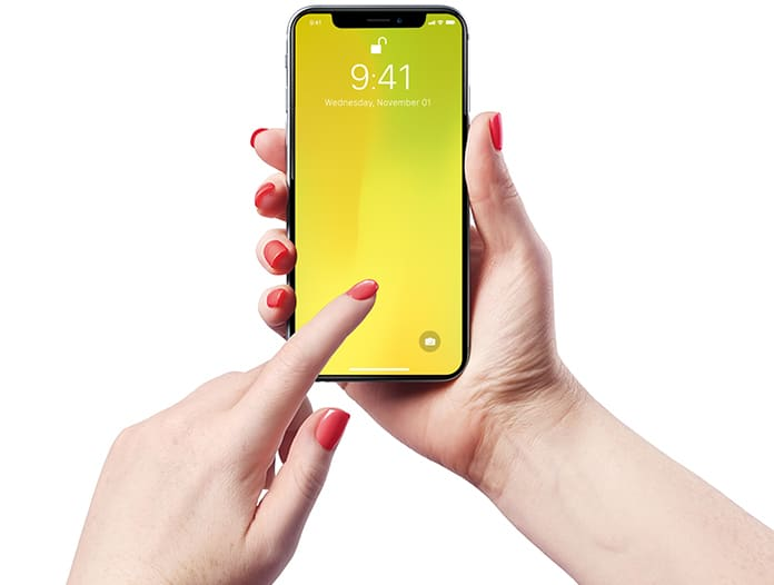 yellow screen on iphone x