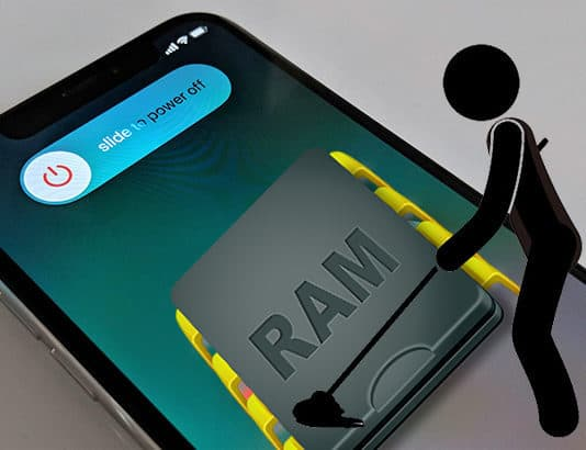 clean ram on iphone x