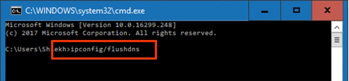 cmd Fix DNS_PROBE_FINISHED_NXDOMAIN Error