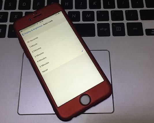 keep iphone screen always on