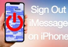 sign out of imessage