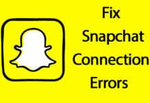 fix snapchat check your connection error