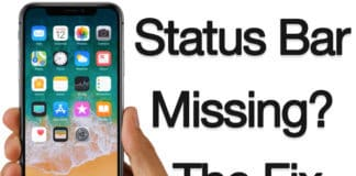 status bar missing on iphone