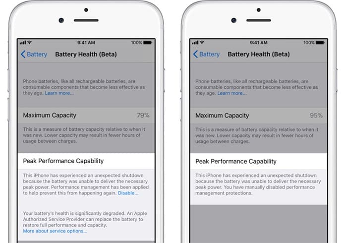 ios 11 battery health