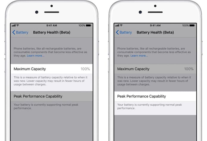 iphone battery health option