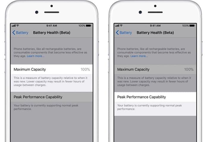iphone battery health option