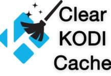 clear kodi cache