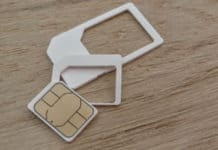 cut a nano-sim from a sim card for your iphone
