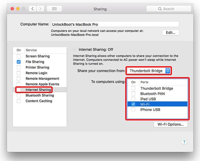 macbook wifi hotspot