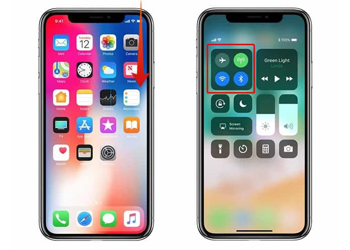 enable airdrop on iphone x