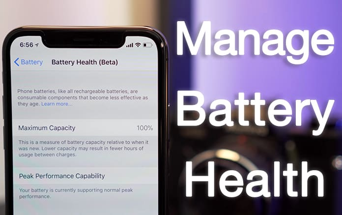 disable battery health on iphone