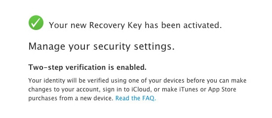 find apple recovery key