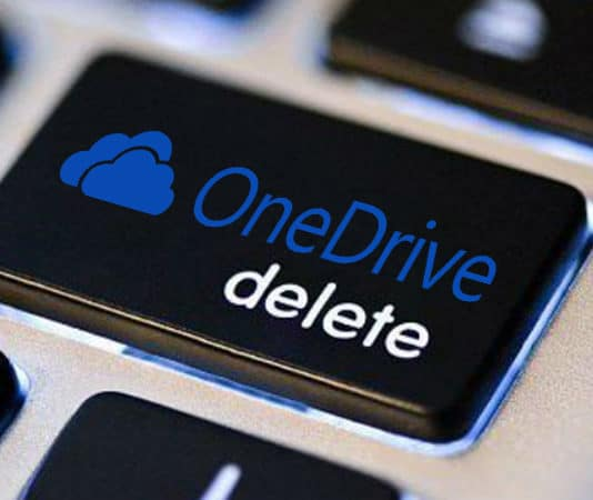 uninstall onedrive from windows