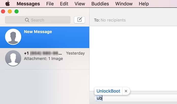 add text substitution on mac