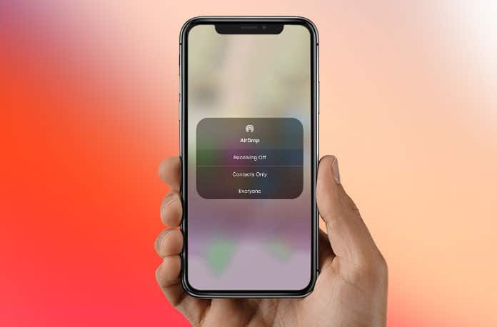 turn on airdrop on iphone x