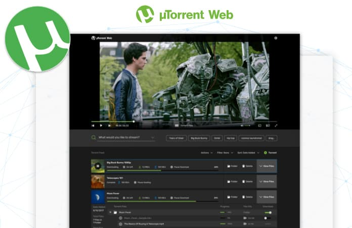 how to use utorrent web