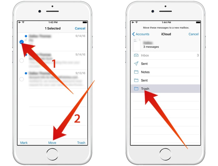 how to delete bulk emails on iphone